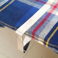 4X Edelstahl Tischtuch Tischdecke Klammern Tischklammer Tischklemmen Halter.