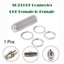 SO239 UHF Chassis Panel Mount Female Socket Bulkhead Adaptor PL259 Plug Coupler