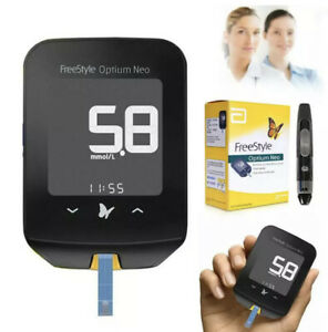 Abbott Freestyle Optium Neo Blood Ketone Glucoses & Meter Portable Monitor Black