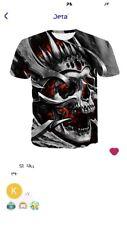Mens Skull T-Shirt/Usa/Free Ship