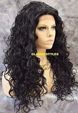 Long Layered Spiral Curls Dark Brown Full Lace Front Wig Heat Ok Hair Piece #2