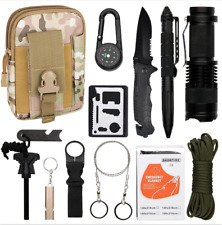 13 in 1 Camping Survival Gear Kits EDC  Military Tactical Backpack Molle Hiking