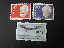 NORWAY, SCOTT # 397/398+405, 2-COMPLETE SETS 1959-60 ANNIV AVIATION ISSUE MVLH