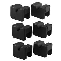 6 Pack Jack Pad Adapter For Jack Stand 2-3 Ton Universal Rubber Slotted FramH6M8