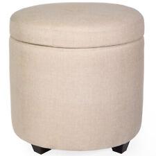Peachy Round Tufted Storage Ottomans For Sale Ebay Theyellowbook Wood Chair Design Ideas Theyellowbookinfo