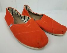 Toms Shoes size 6 Orange Womens Classic Canvas