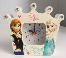 Disney Frozen Anna & Elsa Crown Shaped Battery Operated Children's Clock