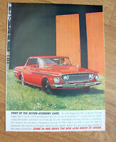 1962 Dodge Dart 440 Ad 1ST of the Action Cars