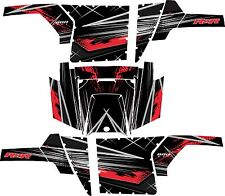 Polaris RZR 800 UTV Graphics Decal Kit 2011 2013 Liquid Silver Red Pro Armor No
