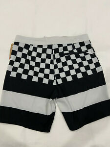 Vans Men Swim shorts, Shorts. Checkerboard. White / Black Off The Wall Size 32
