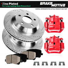 Rear Brake Calipers and Rotors & Pads For 2002 2003 2004 2005 G35 NISSAN 350Z