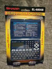 NEW Sharp Electronic Organizer Memo Master EL-6800B Schedule Phonebook