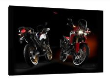 2017 Honda Africa Twin CRF1000L - 30x20 Inch Canvas Framed Picture Print Art