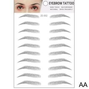 4D Hair-like Eyebrow Tattoo Sticker False Eyebrows New~ Brow Waterproof F9Z5