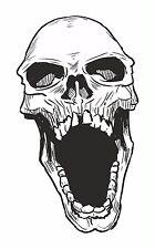 Skull Aufkleber Totenkopf Motorrad WOHNWAGEN LKW Tank Helm Bike Schädel #17