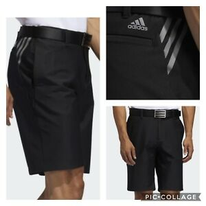 New Men's Adidas Ultimate365 3-Stripes  Golf Shorts- Black - Pick Sizer-MSRP $65