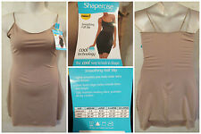 NWT SHAPERCISE XL 12-14 Brown Cool Body Shaping Light Control Full Slip~19.98