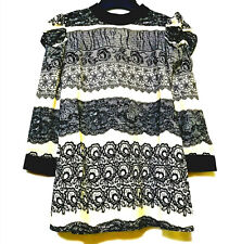 Only Lace Print Details 3/4 Sleeves Top