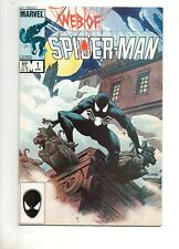 Web of Spider-Man #1 F/VF 7.0 EARLY APP BLACK COSTUME / VENOM! Amazing 300 252