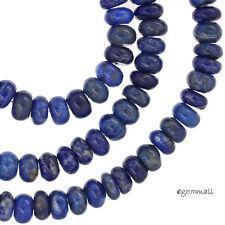 "16"" Natural Lapis Lazuli Rondelle Roundel Beads 6mm Grade B #72026"