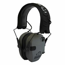 Walker's Razor Slim Folding Protection Electronic Shooting Ear Muffs, Smoke Gray