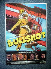 BULLSHOT Original 1980s OS Movie Poster Biggles Comic Book Style Billy Connolly