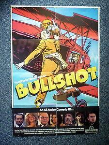 BULLSHOT Biggles Original 1983 Australian One Sheet Movie Poster Billy Connolly