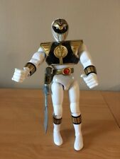 "Power Rangers Bandai 1993 White Ranger 8"" inch Action Figure w/ sword"