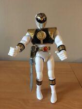 "Power Rangers Bandai 1993 White Ranger 8"" inch Action Figure w/ sword"