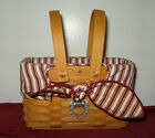 Longaberger 1998 Picture Perfect Sweetheart Basket w/Red Liner & Protector