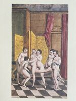 de Latouche Erotik Akt Nude Orgy Orgie Erotic Breast Sex antique Love Art 1748