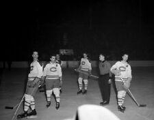 Bret Olmstead, Maurice Richard, Jean Beliveau, Doug Harvey Canadiens 8x10 Photo