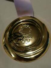 More details for football - malcom signed 2020/21 tokyo olympics replica gold medal - brazil