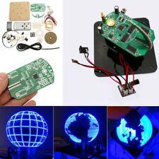 DIY Spherical Rotating 56 LED POV Welding Electronic Part Soldering Training Kit