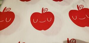 Crate&Barrel Toddler Bedding Set Pillowcase Fitted Flat Sheets Apples Organic