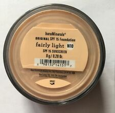 Bare Minerals Original Foundation SPF 15 - FAIRLY LIGHT N10 - 8g - Free UK Post