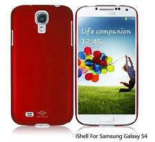 iShell Red Classic Snap-On Case + Screen Protector for Samsung Galaxy S4