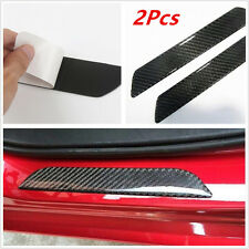 2x Universal Real Carbon Fiber Car Scuff Plate Rear Door Sill Cover Protector