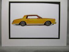 1979 Chevrolet Monte Carlo   Artist Illustrated  American Express Auto Exhibit