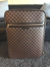 Louis Vuitton Rolling Pegase 55 Damier Ebene Travel Luggage Carry On 100% Auth