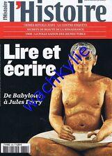 L'histoire n°334 09/2008 Lire et écrire Renaissance Paris inondations jeune turc