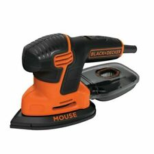 BLACK+DECKER KA2500K-XE 120W Mouse Detail Sander with Kit Box and 9 Accessories