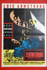 SATCHMO THE GREAT LOUIS ARMSTRONG 1957 JAZZ RARE EXYU MOVIE POSTER