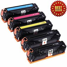 5PK Toner Cartridge for HP CC530A CC531A CC532A CC533A LaserJet CM2320 CP2025