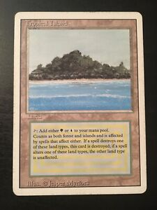 1X MTG Tropical Island REVISED Green Blue Vintage RARE DUAL