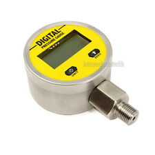 Battery-Powered 316 Body Digital Pressure Gauge,0-25Mpa 3V G1/4 4 LCD Display