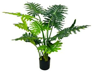 Realistic Foliage Artificial Philodendron Tree with Short Stems 120cm
