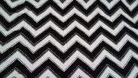 100% Cotton Fabric-Modern Bliss-Andie Hanna-Black and White Chevron Design-