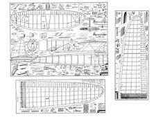 Carl Goldberg Sailplane full Size Balsa Model Airplane Kit Printed Plans