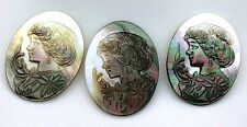 40x30 40mm x 30mm Oval Abalone Cameo Carving Cabochon Cab Gem Stone Gemstone